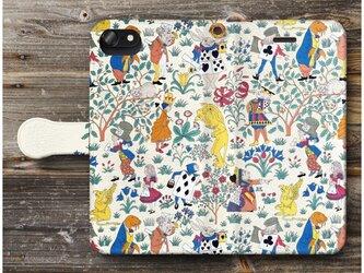 【チャールズ アリス イン ワンダーラント】スマホケース手帳型 全機種対応 iPhone11 Galaxyの画像