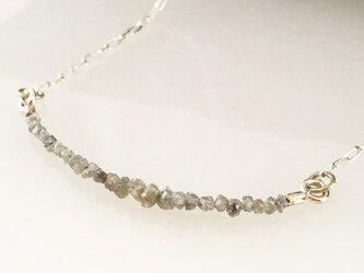 天然ダイアモンド原石 Silver ネックレスの画像