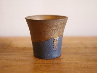 掛け分けカップ(青)の画像
