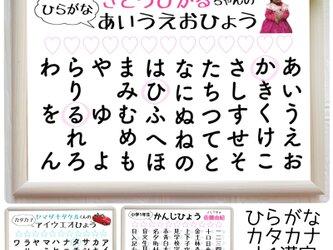 【3枚set*名入り知育ポスター<ひらがな・カタカナ・漢字>A4】244…知育 幼児教育 誕生日 おうち時間の画像