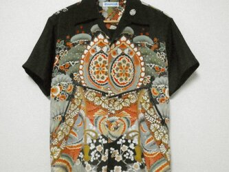 着物アロハシャツ Kimono Aloha Shirt AL-627/Mの画像