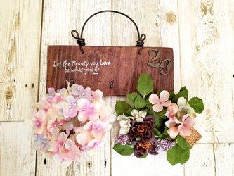 flower雑貨 壁掛けリース3点Set No002 母の日の画像