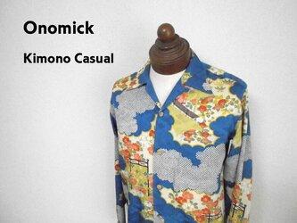 着物アロハシャツ Kimono Aloha Shirt AL-622/Sの画像