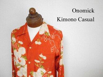 着物アロハシャツ Kimono Aloha Shirt AL-623/Mの画像