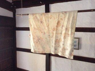 eco dyeing シルクスカーフの画像