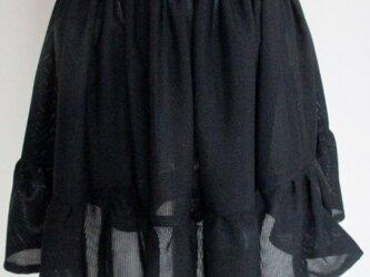 4815 黒の絽の着物で作ったミニスカート #送料無料の画像