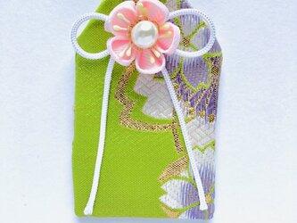 元巫女の花のお守り袋(萌紫桜)の画像