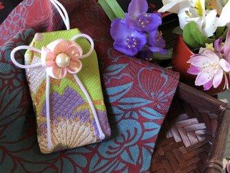 元巫女の花のお守り袋(萌桜紫)の画像