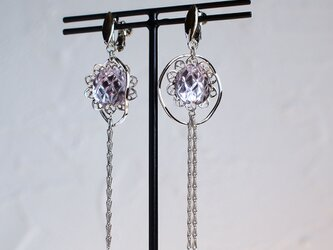 ビンテージガラスのイヤリングの画像