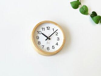 KATOMOKU muku clock 16 ヒノキ km-108HIRC 電波時計 掛け時計 連続秒針 小さいサイズの画像