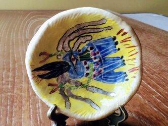 コロナ撃退アマビエ小皿  スタンド付きの画像