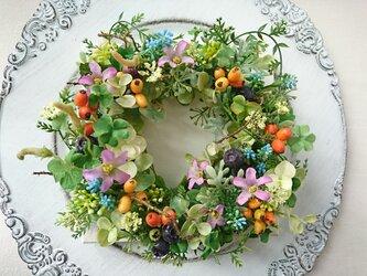 canvas wreath B ( クローバー )の画像