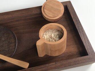 受注制作 チェリーの鋸目の調味料入れ スパイス 砂糖壺 シュガーポット 蓋物の画像