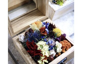 フラワーボックス ナチュラル木箱の画像