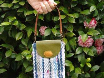 染め織りポーチ  (藍・顔料)の画像