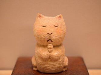 №4クスノキのネコ仏さま。(売れました)の画像