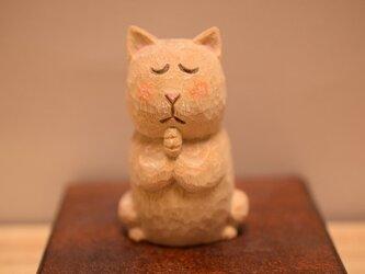 №5クスノキのネコ仏さま。(売れました)の画像