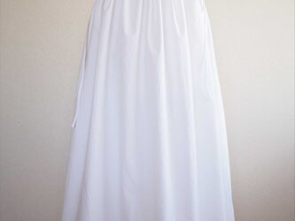 drawstring skirt,whiteの画像