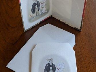ねずみの嫁入りカードとポチ袋のセットの画像