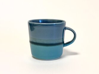 Mug cup M / Turkey prussian blue × blueの画像