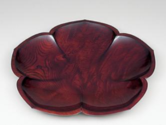 第11回日本伝統工芸木竹展受賞作品 欅拭漆稜花盛器(けやきふきうるしりょうかのもりき)  IM255の画像