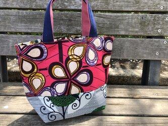 b367-アフリカ布パッチワークトートバッグの画像