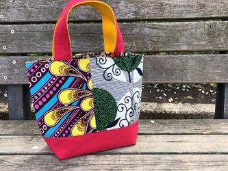 b368-アフリカ布のパッチワークトートバッグの画像