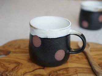黒マットの水玉マグカップ No.422の画像