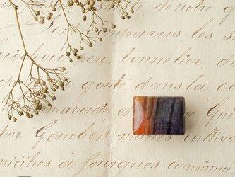 天然石の帯留◎アゲート(染め)/A【送料無料】の画像