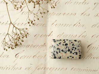 天然石の帯留 ◎ ダルメシアンジャスパー/C【送料無料】の画像