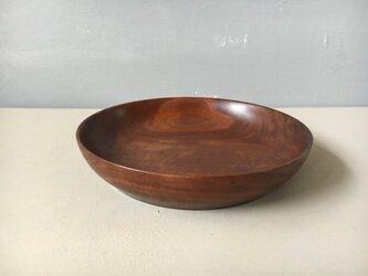 ブラックウォルナットの平皿 035の画像