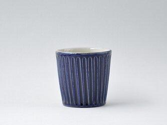 コバルトブルーしのぎのフリーカップの画像