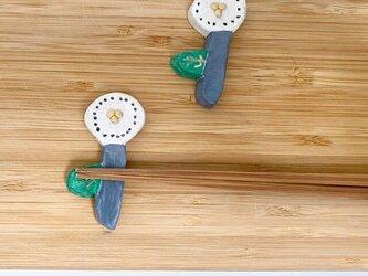 北欧フラワー箸置きA(2個入り)の画像
