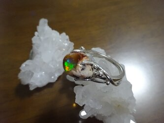 カンテラオパール(母岩オパール)のリングの画像