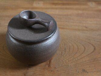 大きめ 塩壺(スプーン付)の画像