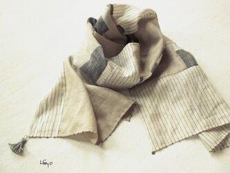 リネン・コラージュストールの画像