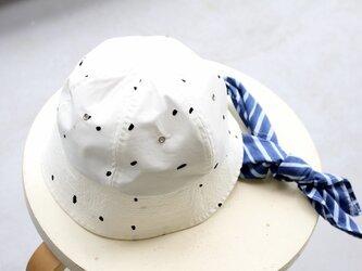 SAILORHAT| FLOCKY DOTS c/# WHITE【M:55.5~58.5cm】の画像