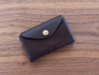 イタリア製牛革のスマートキーケース / チョコ※受注製作の画像