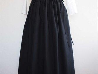 drawstring skirt,blackの画像