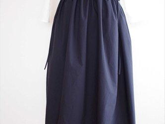 drawstring skirt,navyの画像