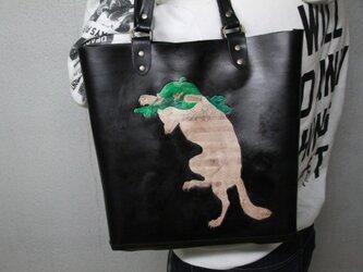 ボックスバッグ 浮世絵『踊る狐』の画像