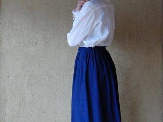 wrap skirt indigoの画像