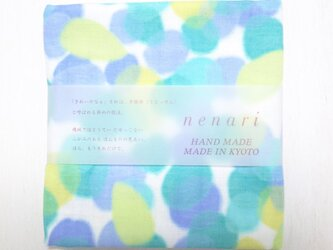 nenari ガーゼハンカチ フェアリー ブルーの画像