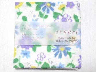 nenariガーゼ ハンカチ 風花 ブルーの画像