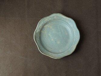 粉引きリム皿(小花模様)の画像