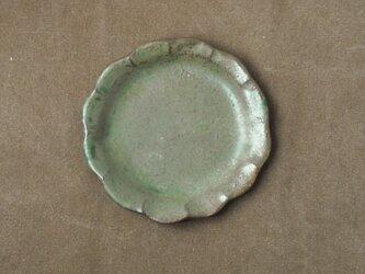 輪花皿(深緑)の画像