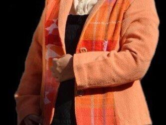 さをり織りオレンジ色ジャッケットの画像