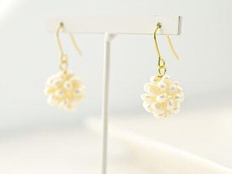 water pearl ball Pierces/earringsの画像