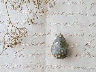 天然石の帯留 ◎ オーシャンジャスパー/A【送料無料】の画像
