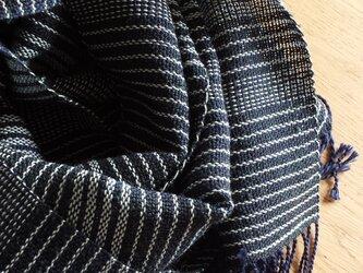 【手織り】コットンとシルクウールのストールの画像